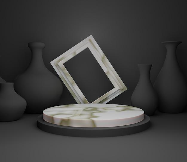 3d backgound illustration scène papier peint produit simple cadre abstrait moderne