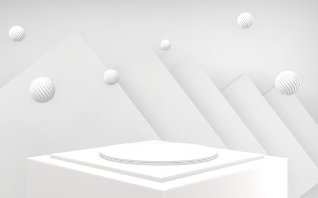 3d blanc luxe abstrait podium doré minimal géométrique abstrait style blanc et or