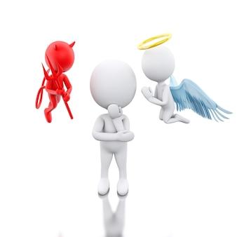 3d les blancs avec angel et devil.