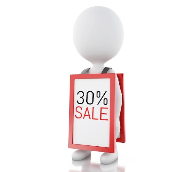 3d les blancs avec la promotion de mégaphone 30% de réduction