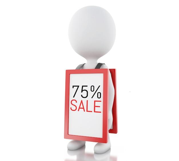 3d les blancs avec la promotion de mégaphone 75% de réduction
