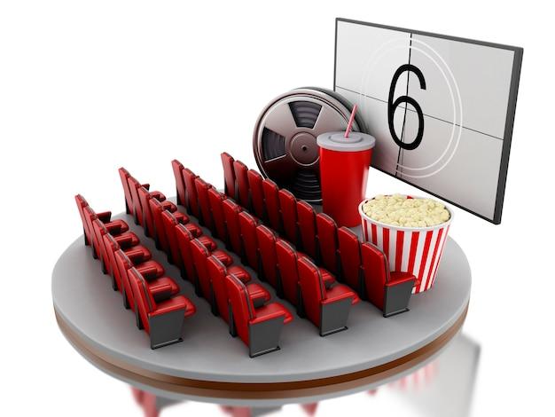 3d cinéma salle de cinéma.
