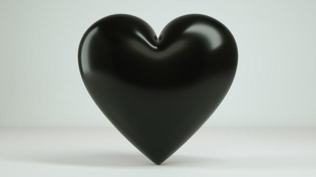 3d coeur fond blanc rendu