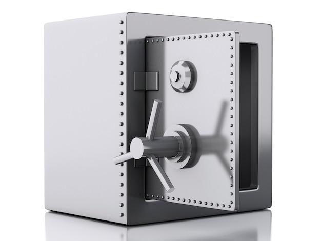 3d coffre fort concept de sécurité