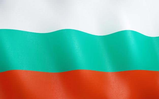 3d drapeau de la bulgarie.