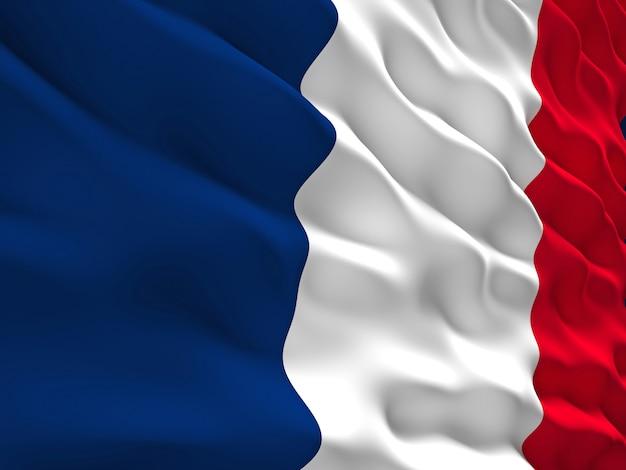 3d drapeau de la france