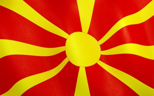 3d drapeau de la macédoine