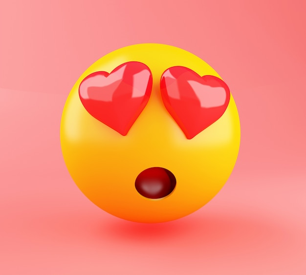 3d emoji en amour.