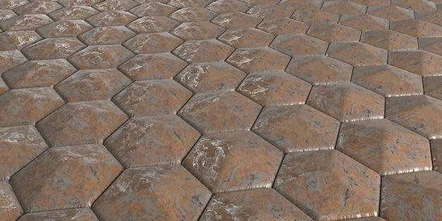 3d fond abstrait géométrique hexagonal fond