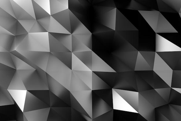 3d fond noir géométrique low poly illustration d'entreprise géométrique.