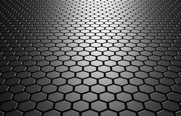 3d illustration abstrait avec hexagones technologie futuriste mosaïque en nid d'abeille illustration pour les dessins et bannières