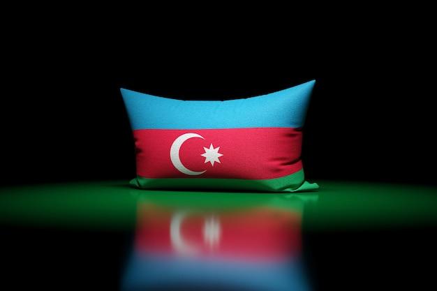3d illustration d'oreiller rectangulaire représentant le drapeau national de l'azerbaïdjan