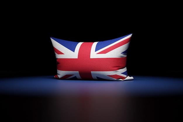 3d illustration d'oreiller rectangulaire représentant le drapeau national du royaume-uni