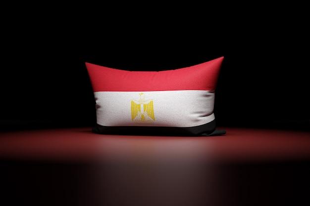 3d illustration d'oreiller rectangulaire représentant le drapeau national de l'égypte