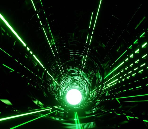 3d illustration rendu abstrait néon de lumière moderne