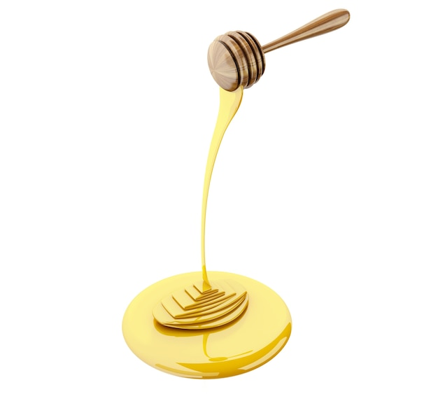 3d miel avec du miel