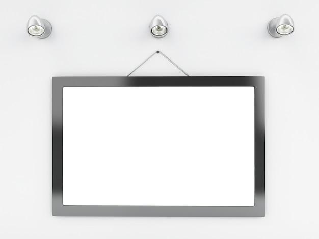 3d modèle de cadre vide avec place pour votre texte et design