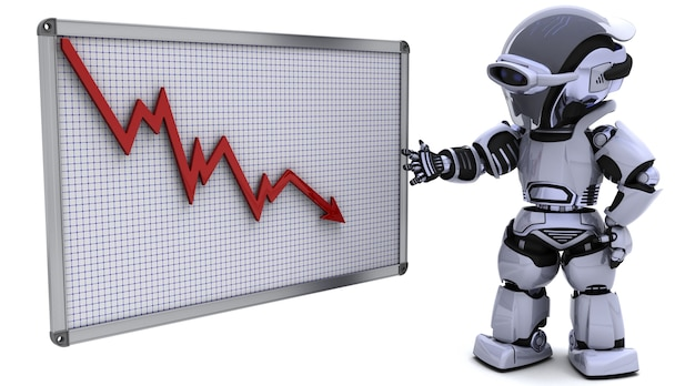 3d rendent d'un robot avec une carte graphique