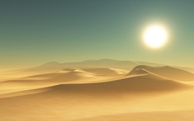 3d rendent d'une scène du désert