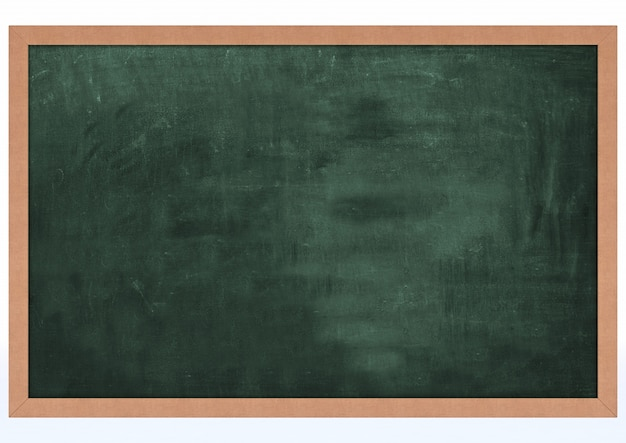 3d render de chalk board blank