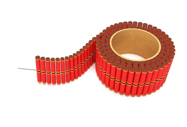 3d render diwali crackers pour le festival diwali banger pour les vacances asiatiques.