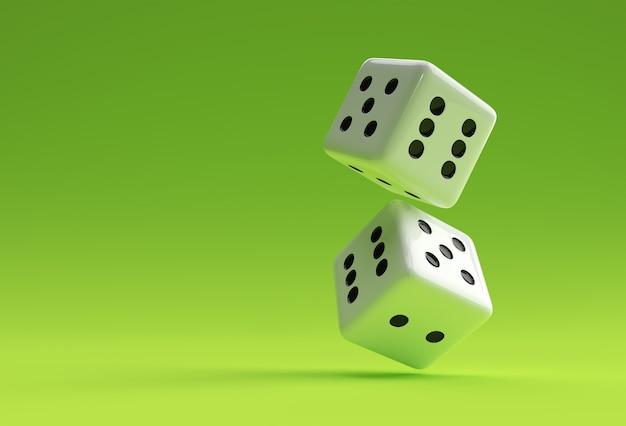 3d render falling casino dice icon illustration design.