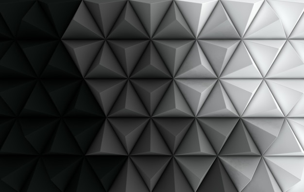 3d render fond polygonale noir et blanc