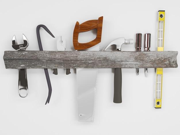 3d render des outils à main
