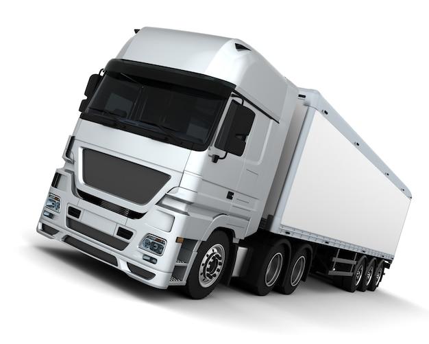 3d render d'un véhicule de livraison cargo
