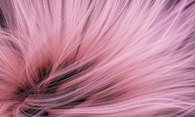 3d rendu abstrait poils qui coule rose