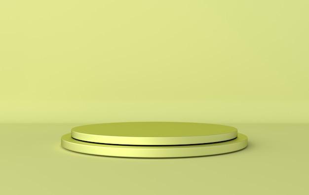 3d rendu avec des formes géométriques, podium sur le sol