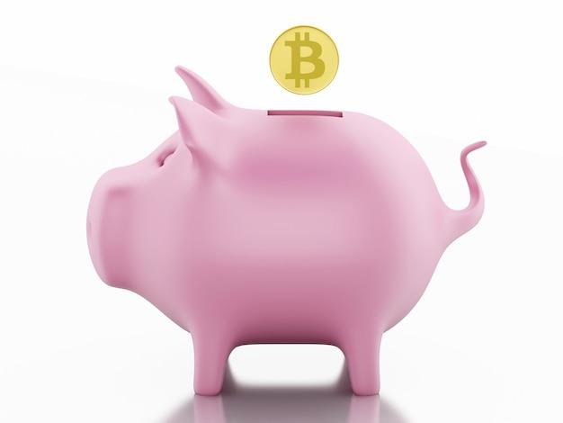 3d tirelire avec bitcoin