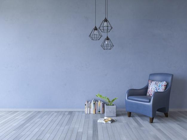 3ds rendant le canapé blanc sur le plancher en bois