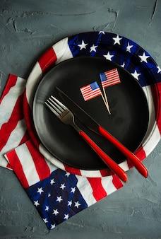 4 juillet table dressée