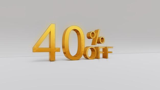 40 pour cent de réduction sur le rendu 3d