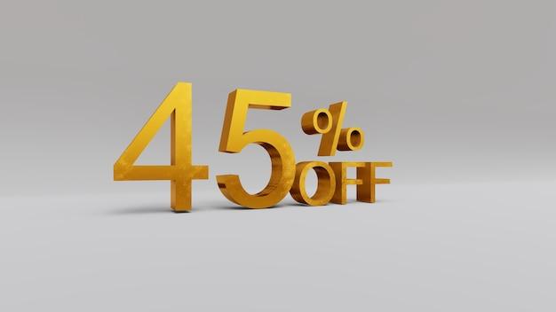 45% de réduction sur le rendu 3d
