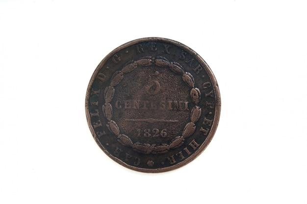 5 centimes, monnaie italienne de 1826