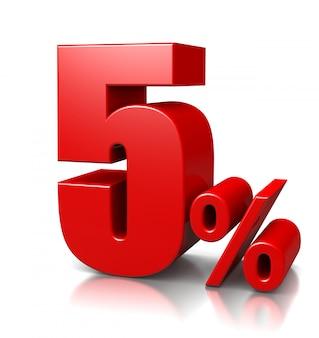 5 pour cent