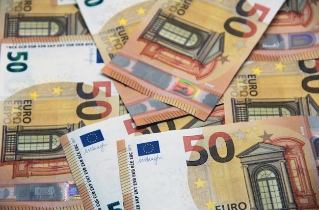 50 euros d'arrière-plan