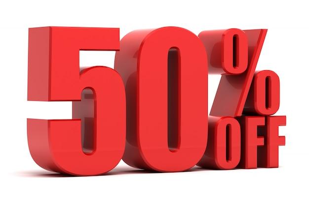 50 pour cent de promotion