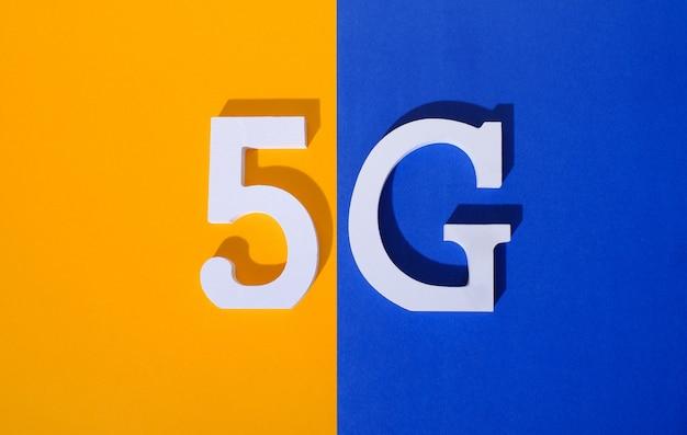 5g logo de 5ème génération standard