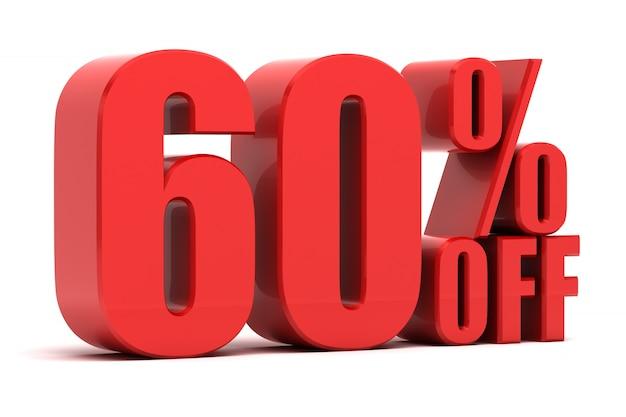 60 pour cent de promotion