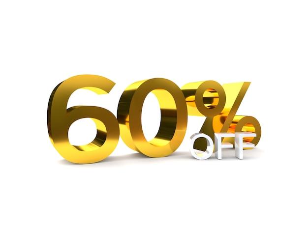 60% de réduction sur la vente. nombre d'or 3d.