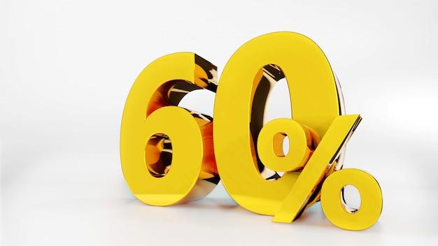 60% symbole d'or