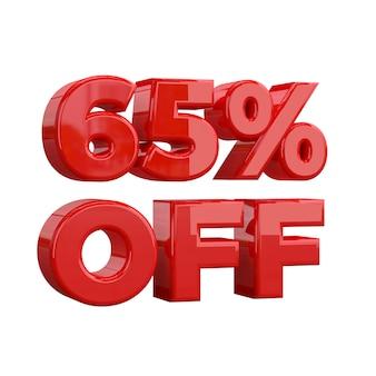 65% de réduction, offre spéciale, bonne offre, vente. soixante cinq pour cent
