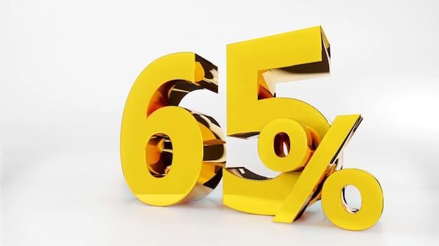 65% symbole doré