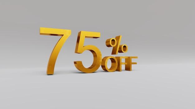 75% de réduction sur le rendu 3d