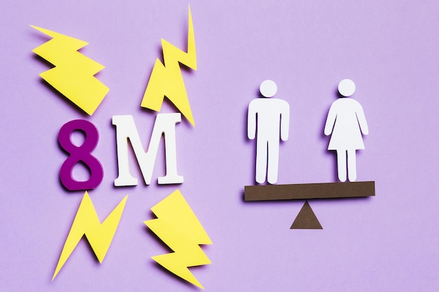 8 mars et équilibre avec femme et homme