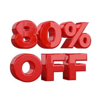 80% de réduction, offre spéciale, bonne offre, vente. quatre-vingt pourcent
