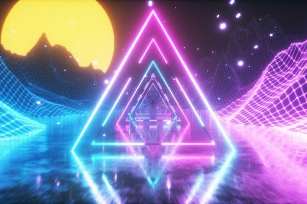 80's abstrait rétro futuriste